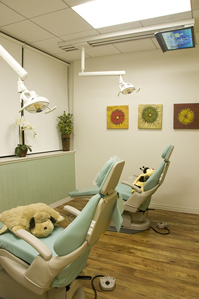 Exam area at New Rochelle Kids Dental
